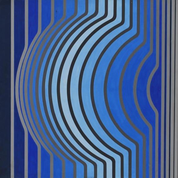 Victor Vasarely, Sir-Ris-BB, 1959.1968, olio e acrilico su tavola cm.59x59