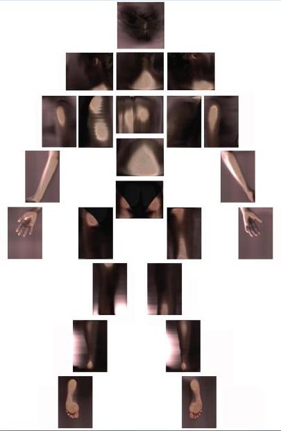 Corpo, Visione posteriore, 2013, stampa su pvc, cm 150x100